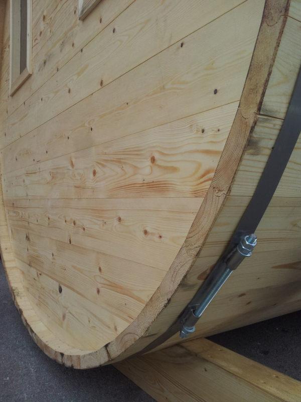 sauna barril madera