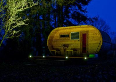 sauna exterior madera