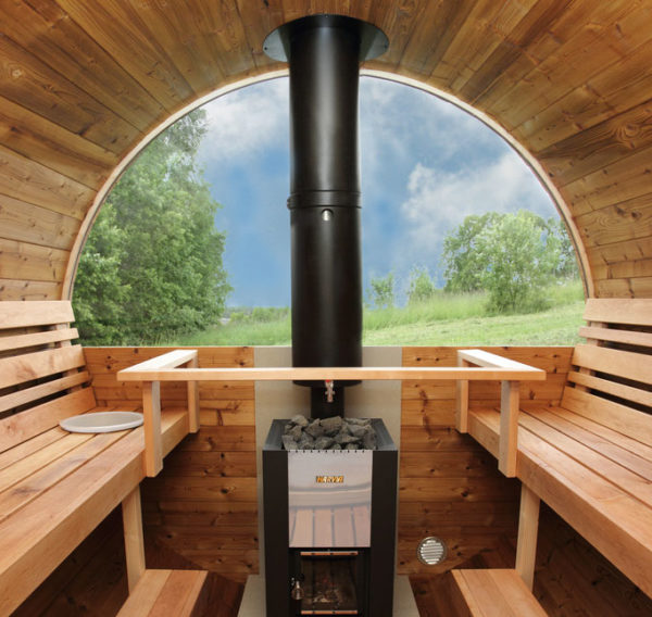 sauna barril interior