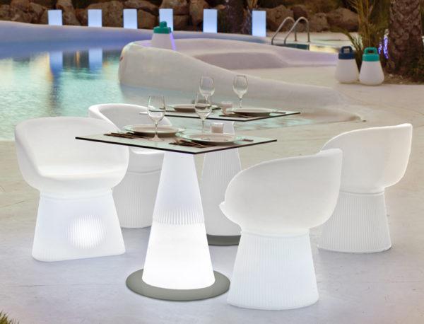 Mesa Ítaca y sillas Mallorca