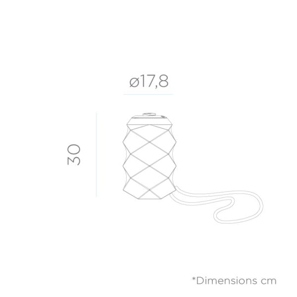 dimensiones de Lámpara portátil Bita colgante