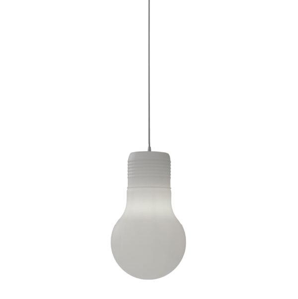Lámpara Balby colgante con forma de bombilla