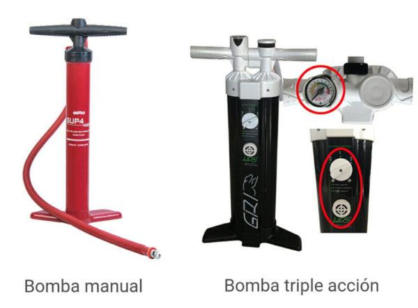 Poolmat Bomba de inflar manual o de triple acción