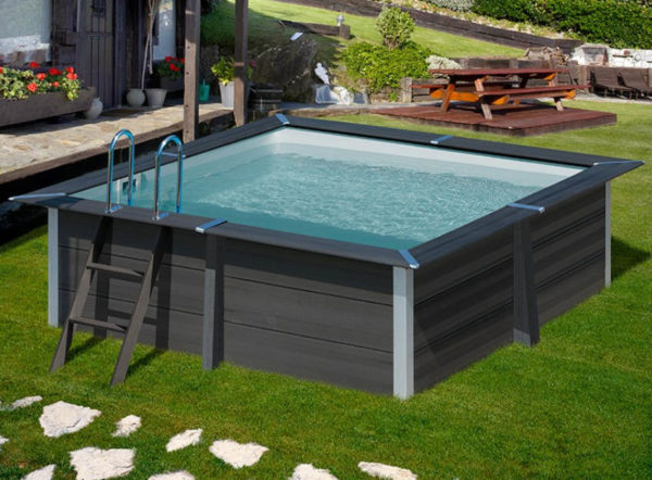 piscina desmontable gre Avantgarde de composite cuadrada