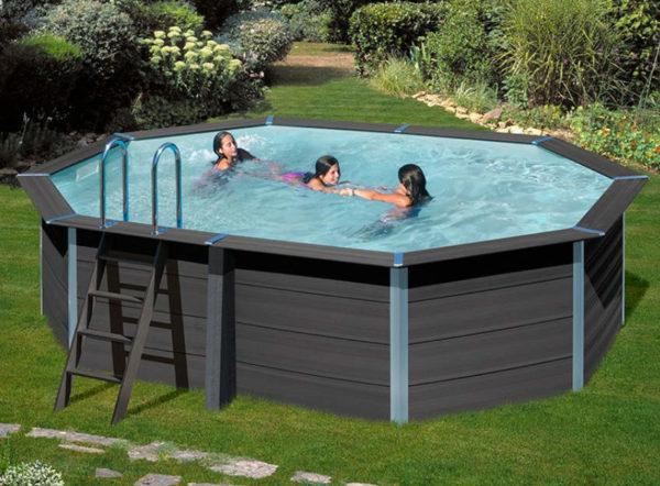 piscina desmontable gre Avantgarde de composite ovalada