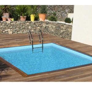piscina desmontable gre de madera Sunbay Carra Cuadrada