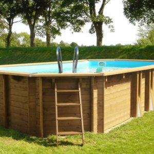 piscina desmontable gre de madera Sunbay Safran ovalada