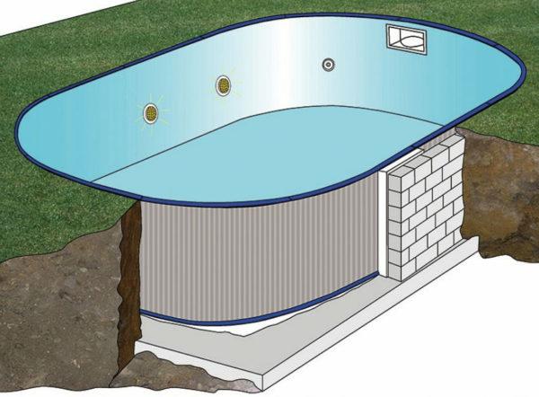 piscina desmontable gre enterrada Madagascar ovalada