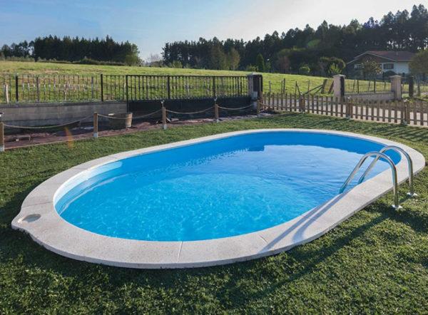 piscina desmontable gre enterrada Sumatra ovalada