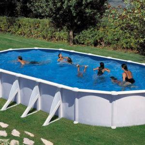 piscina desmontable gre Atlantis de acero blanca ovalada