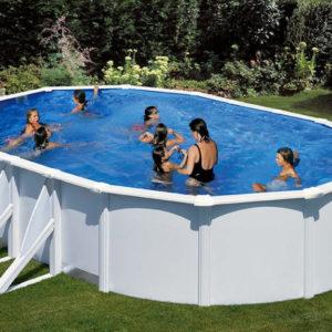 piscina desmontable gre Bora Bora de acero blanca ovalada