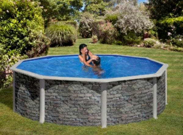 piscina desmontable gre cerdeña circular grande