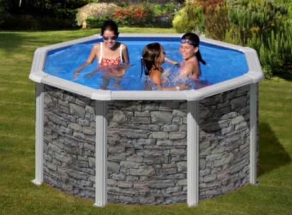 piscina desmontable gre cerdeña circular pequeña