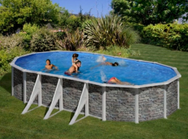 piscina desmontable gre cerdeña ovalada grande
