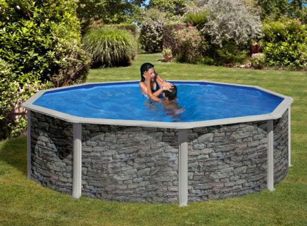 piscina desmontable gre corcega circular mediana