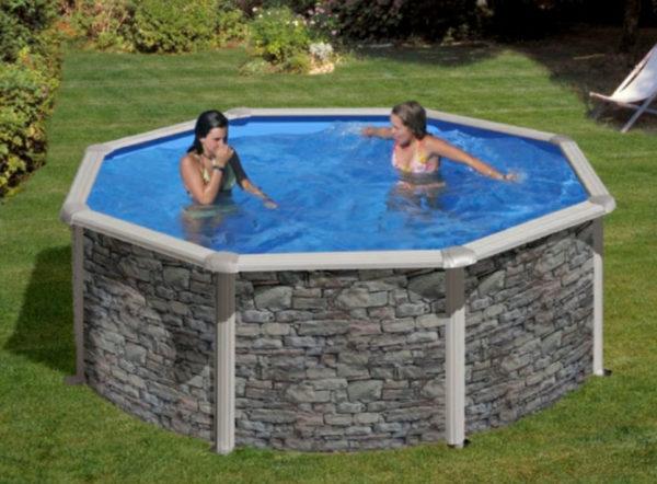 piscina desmontable gre corcega circular pequeña