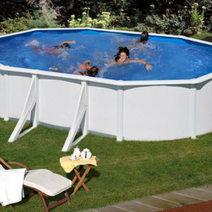 piscina desmontable gre Fidji de acero blanca ovalada