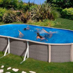 piscina desmontable gre Fusión Pool de acero ovalada