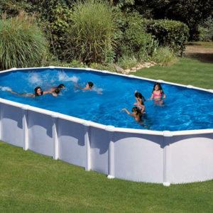 piscina desmontable gre Haití acero blanca ovalada