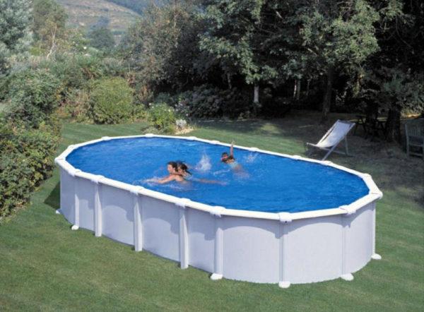 piscina desmontable gre haiti ovalada acero blanca mediana