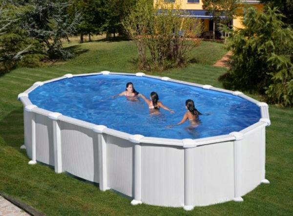piscina desmontable gre haiti ovalada acero blanca pequeña