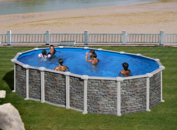 piscina desmontable gre santorini ovalada pequeña