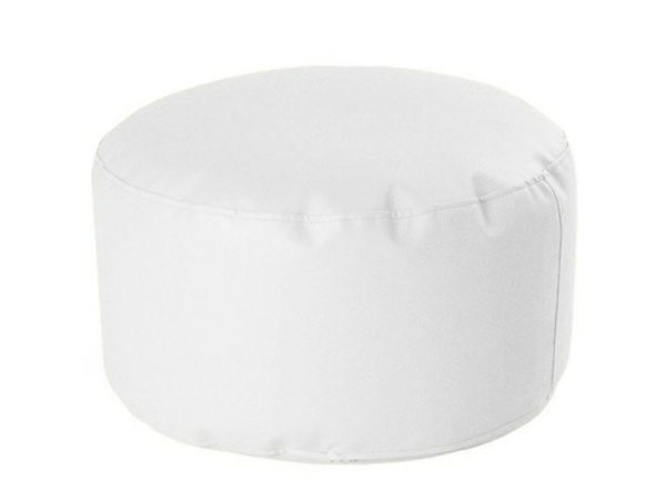 puff redondo soft 60 30 blanco