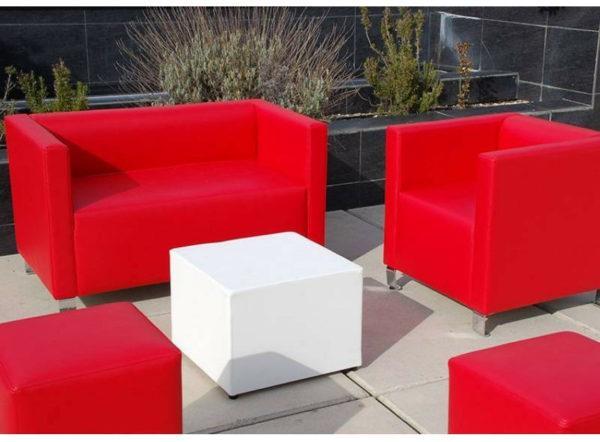 sofá Cabrera conjunto rojo