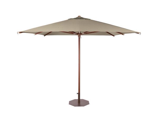 Parasol Java 3x3 metros de Ezpeleta pie de madera con fuga de vientos sin volante y diferentes colores