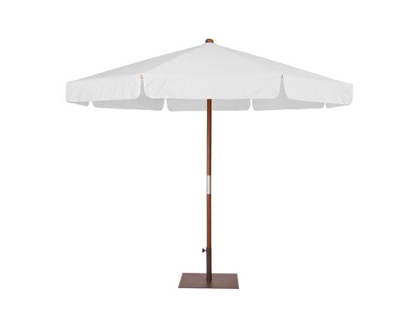 Parasol Java 3 metros de diametro de Ezpeleta pie de madera con fuga de vientos con volante y diferentes colores