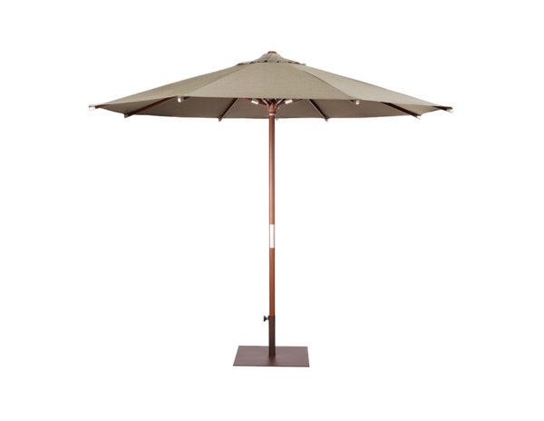Parasol Java 3 metros de diametro de Ezpeleta pie de madera con fuga de vientos sin volante y diferentes colores