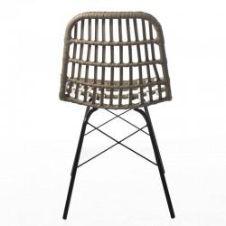 silla de exterior e interior de rattán