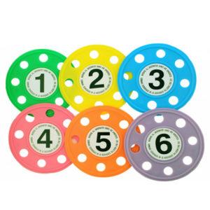 Discos sumergibles numerados