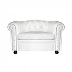 Sofá Chester 1 plaza color blanco