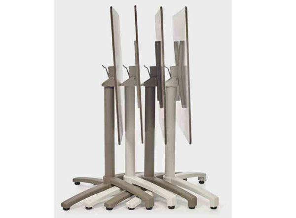 Mesa Kos Ezpeleta abatible de aluminio y diferentes acabados
