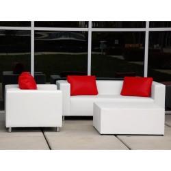 sofá de una plaza color blanco