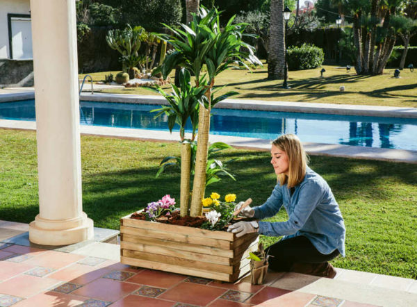 WildBox jardinera rectangular con malla de Catral