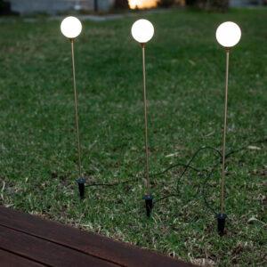 pack de 3 lampara solar de jardín