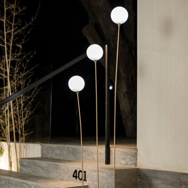 Lampara de pie con cable Bruna 165 con 3 luces