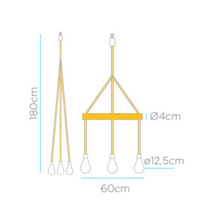 Medidas lampara sin cable solar recargable