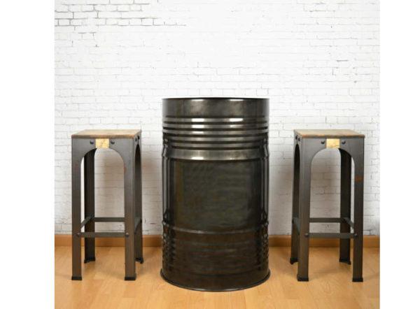Mesa alta de bidón estilo industrial de crea collection