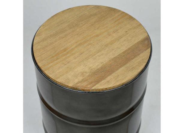 Mesa baja de bidón estilo industrial de crea collection