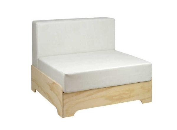 Sofá Box 1 Plaza con Cojines de Polipiel de Crea Collection