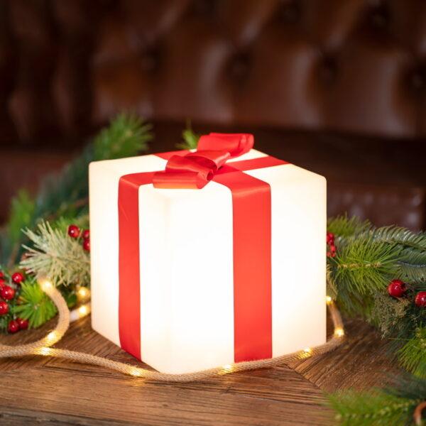 Cubo de luz navideño