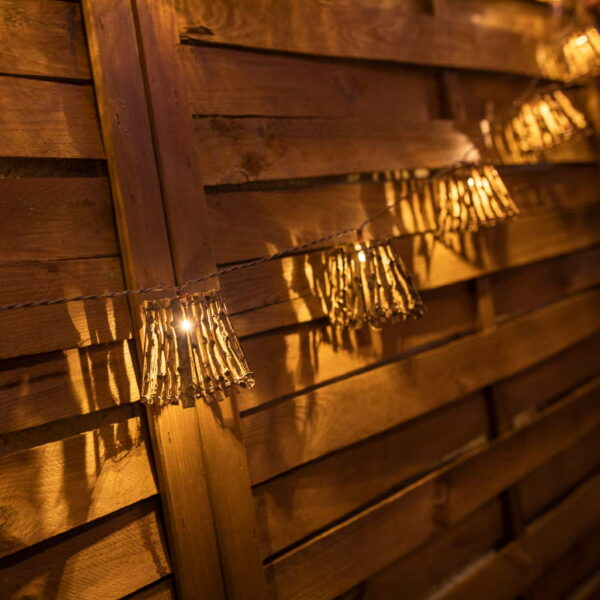 Guirnalda de luces para interior y exterior