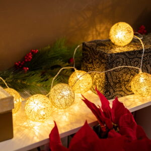 Guirnalda de luces esférica decoración navidad