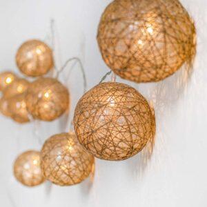Guirnalda esférica de luz para decoración profesionales, navidad
