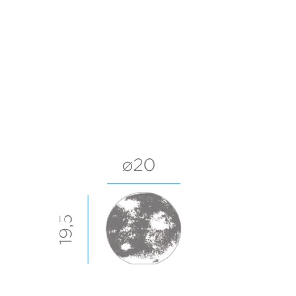 lampara esférica de mesa medidas 20cm